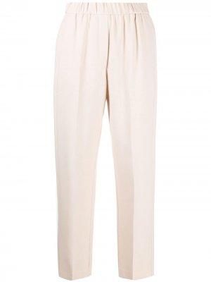 Зауженные брюки с эластичным поясом Forte. Цвет: нейтральные цвета