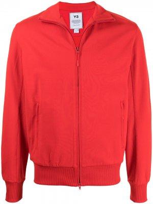 Куртка на молнии с воротником-воронкой Y-3. Цвет: красный