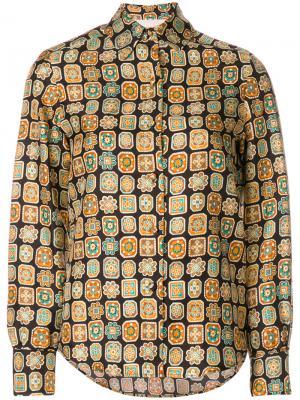 Рубашка Piastrelle La Doublej. Цвет: коричневый