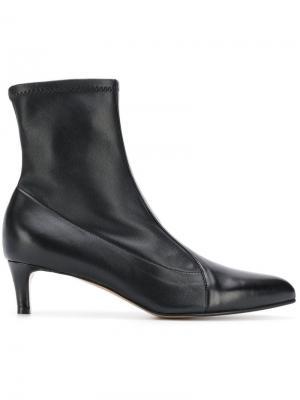 Ботильоны с носочной вставкой Antonio Barbato. Цвет: black