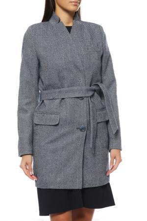 Пальто Анора. Цвет: синий