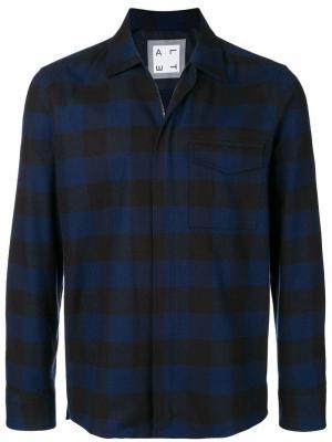Куртка-рубашка в шотландскую клетку Altea. Цвет: синий