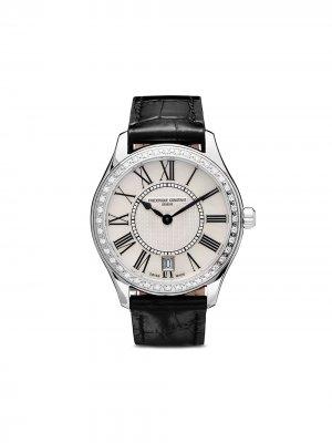 Наручные часы Classic Lady Quartz 36 мм Frédérique Constant. Цвет: серебристый