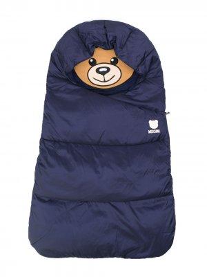 Спальный мешок с логотипом Teddy Bear Moschino Kids. Цвет: синий