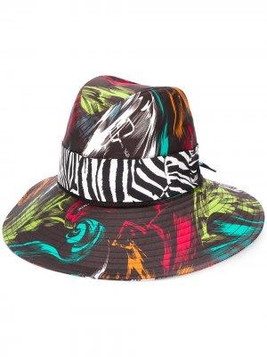 Шляпа с абстрактным принтом Missoni. Цвет: черный