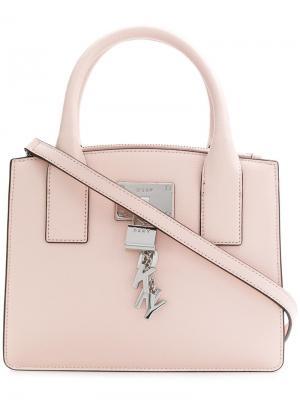 Маленькая сумка-тоут Donna Karan. Цвет: розовый