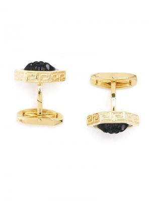 Medusa hexagon cufflinks Versace. Цвет: чёрный