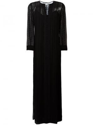 Длинное платье с кружевными вставками Elizabeth And James. Цвет: черный