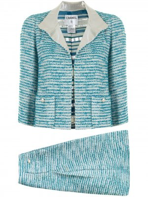 Костюм с юбкой Chanel Pre-Owned. Цвет: синий