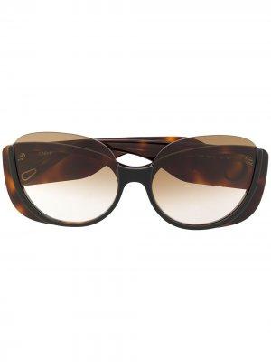 Солнцезащитные очки в оправе кошачий глаз Chloé Eyewear. Цвет: коричневый