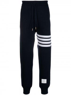 Спортивные брюки с полосками 4-Bar Thom Browne. Цвет: синий