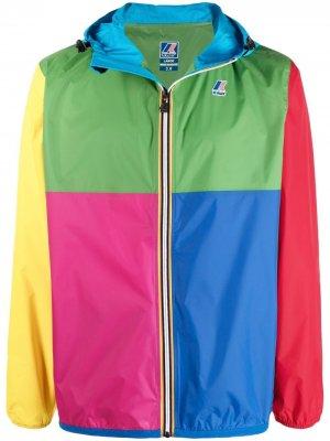 Куртка Madrid в стиле колор-блок с логотипом K-Way R&D. Цвет: зеленый