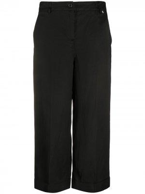 Укороченные брюки чинос TWINSET. Цвет: черный