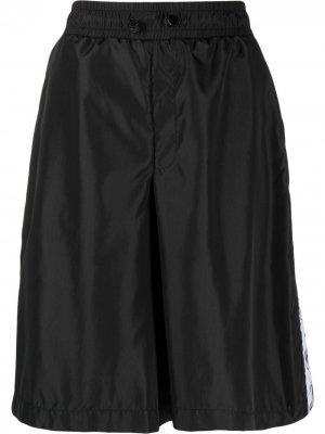 Спортивные шорты с лампасами Chiara Ferragni. Цвет: черный