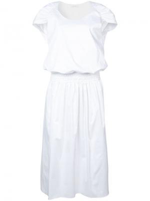 Платье-кейп April The Row. Цвет: белый