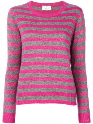 Блестящий свитер в полоску Allude. Цвет: розовый и фиолетовый
