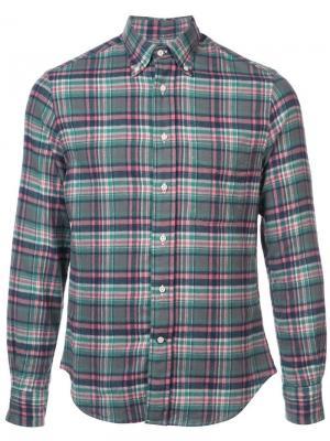 Фланелевая рубашка Candy Gitman Vintage. Цвет: зеленый