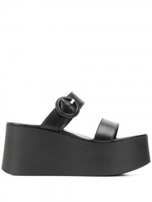 Босоножки на платформе с открытым носком Gianvito Rossi. Цвет: черный