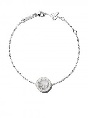 18kt white gold Happy Diamonds Icons bracelet Chopard. Цвет: белый