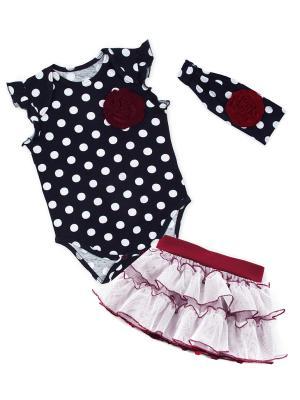 Комплект одежды Апрель. Цвет: темно-синий, белый, красный