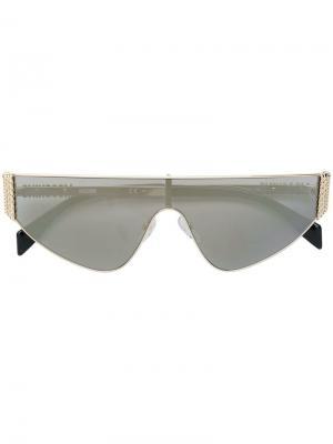 Солнцезащитные очки Mos022/s Moschino Eyewear. Цвет: черный