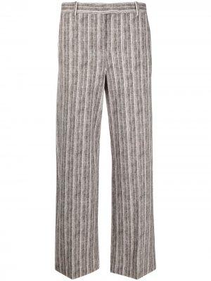 Прямые брюки в тонкую полоску Circolo 1901. Цвет: коричневый