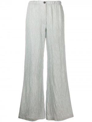 Прямые брюки свободного кроя Raquel Allegra. Цвет: синий