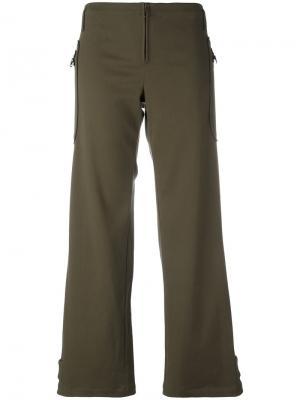 Расклешенные брюки Romeo Gigli Vintage. Цвет: зеленый