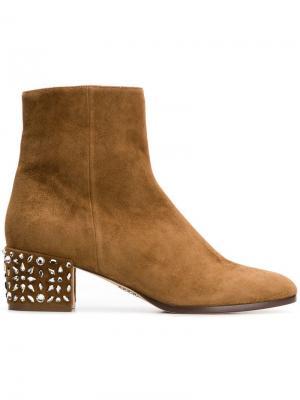 Embellished heel boots Rodo. Цвет: коричневый