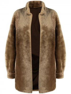 Шуба без застежки Yves Saint Laurent Pre-Owned. Цвет: нейтральные цвета