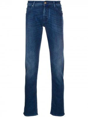 Джинсы с пятью карманами Jacob Cohen. Цвет: синий