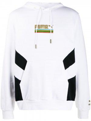 Худи TFS с логотипом Puma. Цвет: белый