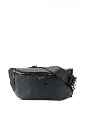 Поясная сумка с тисненым логотипом Billionaire. Цвет: черный