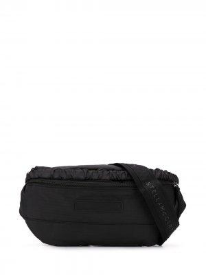 Поясная сумка с логотипом Stella McCartney. Цвет: черный