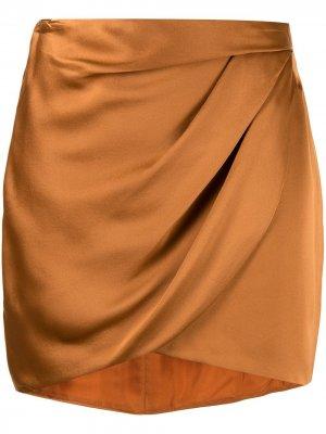 Драпированная юбка мини Michelle Mason. Цвет: оранжевый