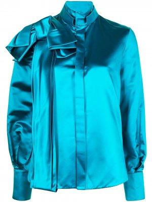 Рубашка с бантом Dice Kayek. Цвет: синий