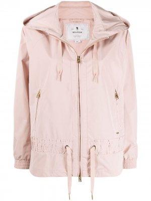 Куртка на молнии с капюшоном Woolrich. Цвет: розовый
