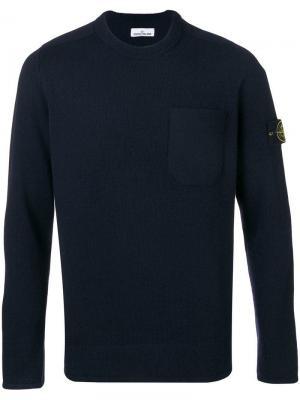 Round neck sweater Stone Island. Цвет: синий