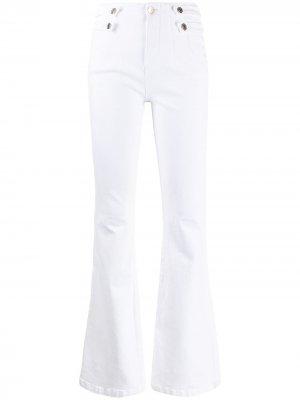 Расклешенные брюки Beverly Veronica Beard. Цвет: белый