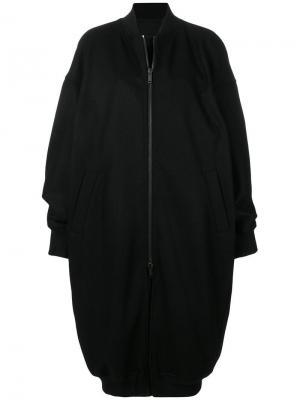 Пальто миди на молнии A.F.Vandevorst. Цвет: черный