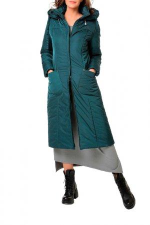Пальто DizzyWay. Цвет: темно-зеленый
