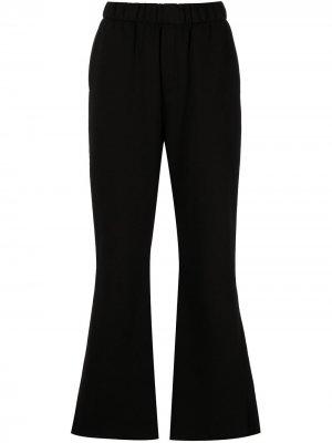 Расклешенные брюки с вышивкой Natasha Zinko. Цвет: черный