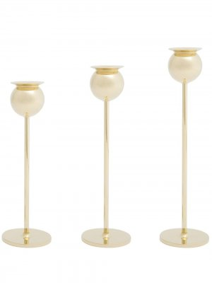 Набор Tulip из трех подсвечников Skultuna. Цвет: золотистый