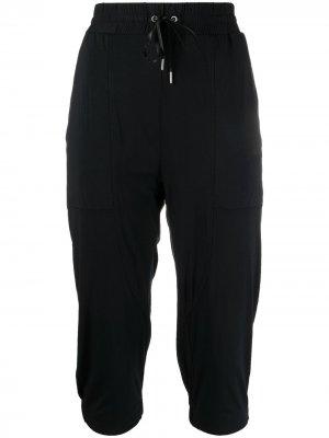 Укороченные брюки 1990-х годов с кулиской Helmut Lang Pre-Owned. Цвет: черный