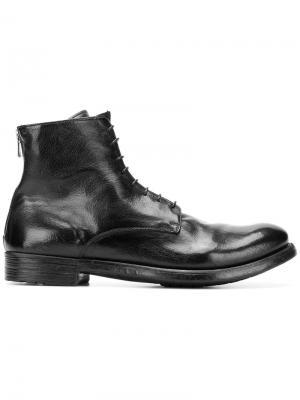 Ботинки по щиколотку на шнуровке Officine Creative. Цвет: черный