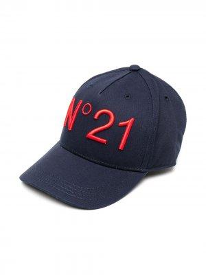 Бейсболка с вышитым логотипом Nº21 Kids. Цвет: синий