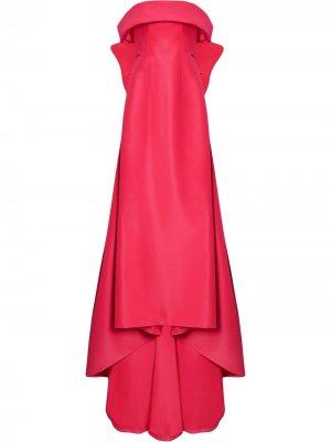 Платье с бантом Carolina Herrera. Цвет: розовый