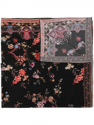 Саронг с цветочным принтом Camilla. Цвет: черный