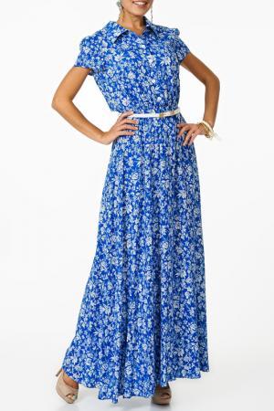 Платье Argent. Цвет: бело-голубой