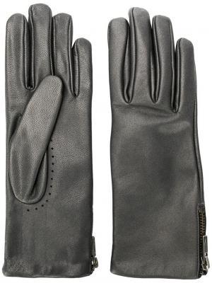 Side zipped gloves Filippa-K. Цвет: серый